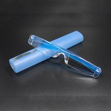 Seemfly Pembesar Pria Membaca Kacamata Kacamata dengan Case + 1.0 + 1.5 + 2.0 + 2.5 + 3.0 + 3.5 + 4.0 Wanita Pria Presbyopic Kacamata(China)