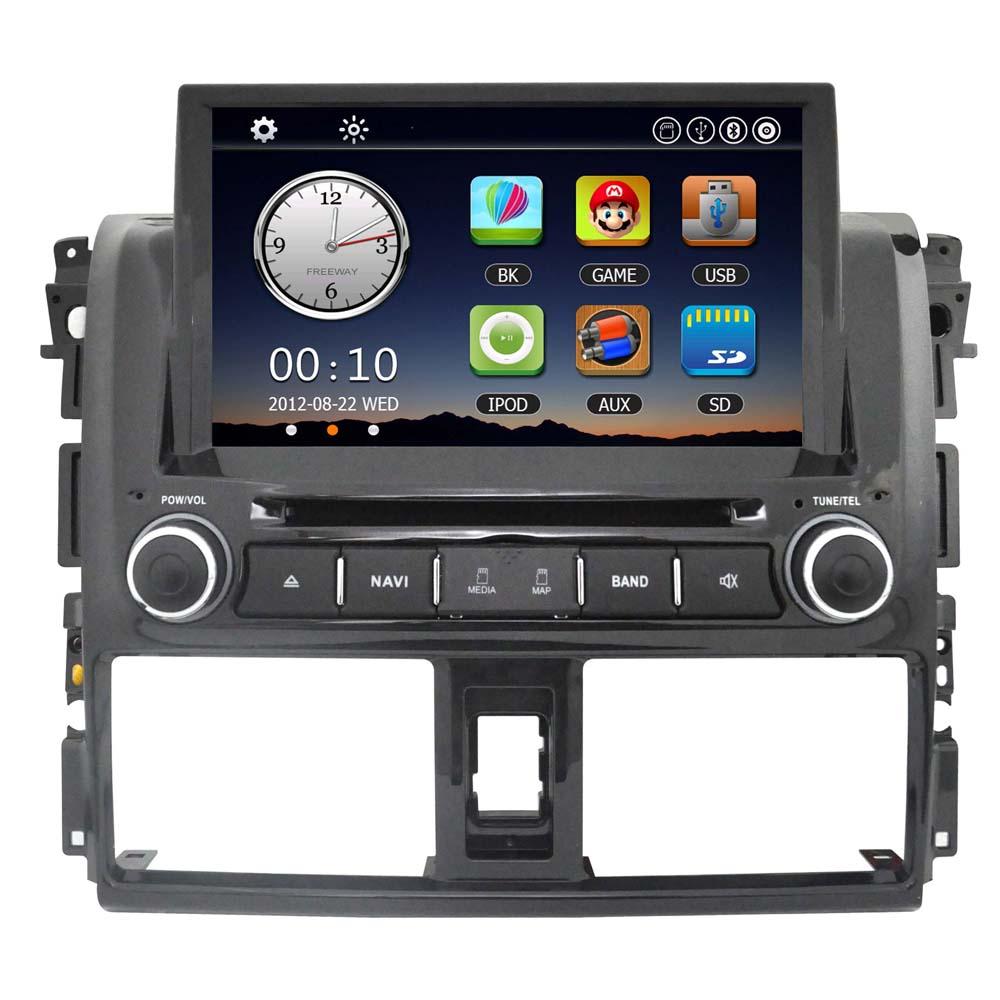 "8"" Car Radio 2 Din Car DVD Player in Dash GPS Navigation Car Monitor PC Stereo Head set for Toyota Vios 2014 +Free Map Free Card(China (Mainland))"