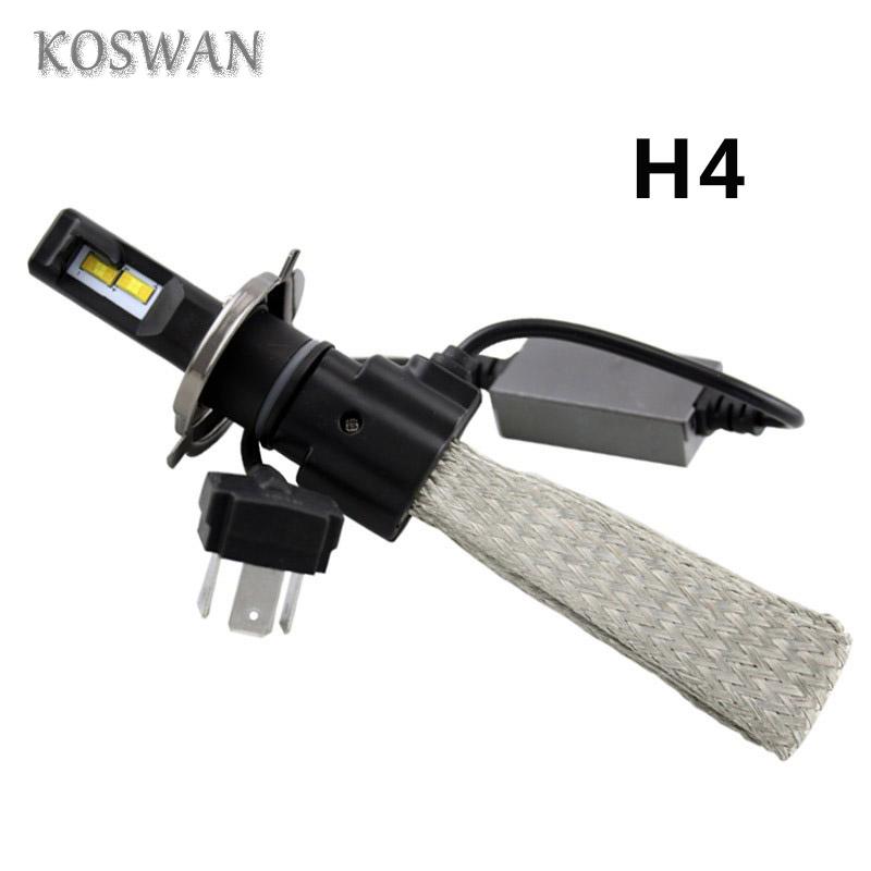 2X 60W H4 Hi/Lo Led Cree Car Headlight Kit Daytime Fog Driving Auto Headlamp 6500K White H4 LED Headlight Bulb 3800LM High Beam
