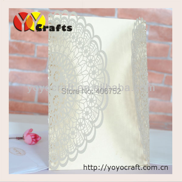 wholesale new design best price free logo paper laser cut baby naming ceremony invitation cards(China (Mainland))