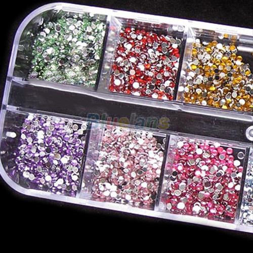 3000pcs 2mm Round Rhinestones Hard Case Nail Art Tips Decoration Created Gemstones Acrylic UV Gel<br><br>Aliexpress