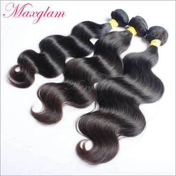 Maxglam Hair Brazilian Virgin hair body wave 3pcs/Lot Brazilian Hair weave bundles Human Hair Extension Free Shipping