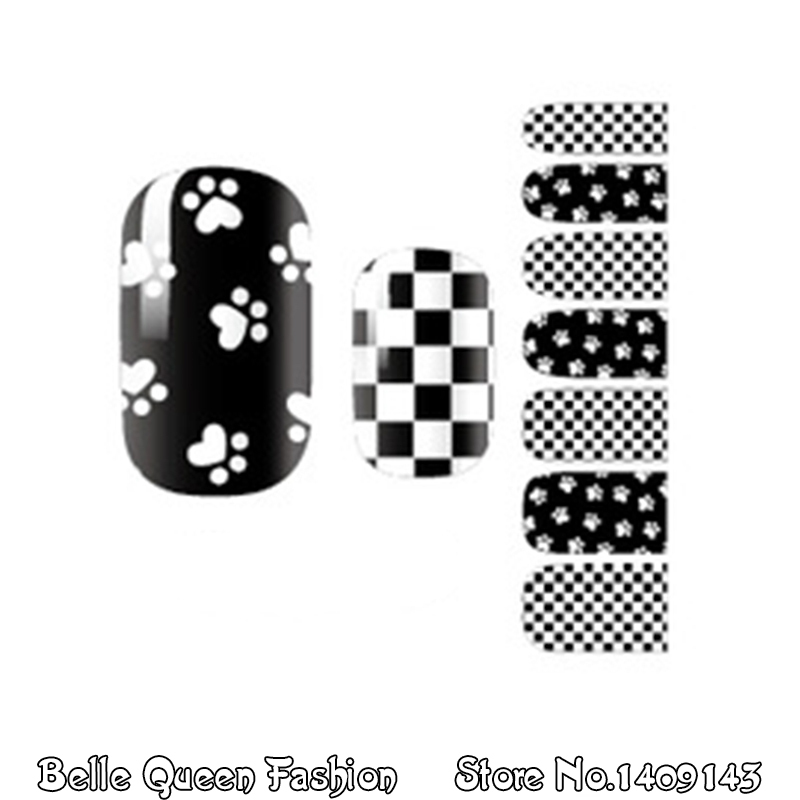 YM1045 Nail Wraps Full Cover Acrylic Tips Stickers Nail Art Decal Manicure(China (Mainland))