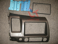 Free shipping-Car refitting DVD frame DVD panel Dash Kit Fascia for 07-2011 Honda Civic, 2DIN ( left hand ,with SRS hole )