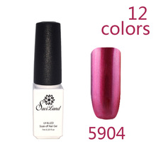 1PCS Hot Metallic Mirror Effect Gel nail polish soak off UV gel Metal gold Color Nail