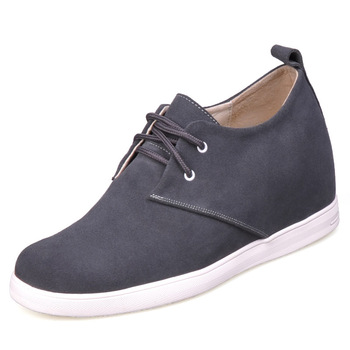9091A_5 - Gray color fashion leather comfortable shoes-grow taller 7CM -7 colors for you.