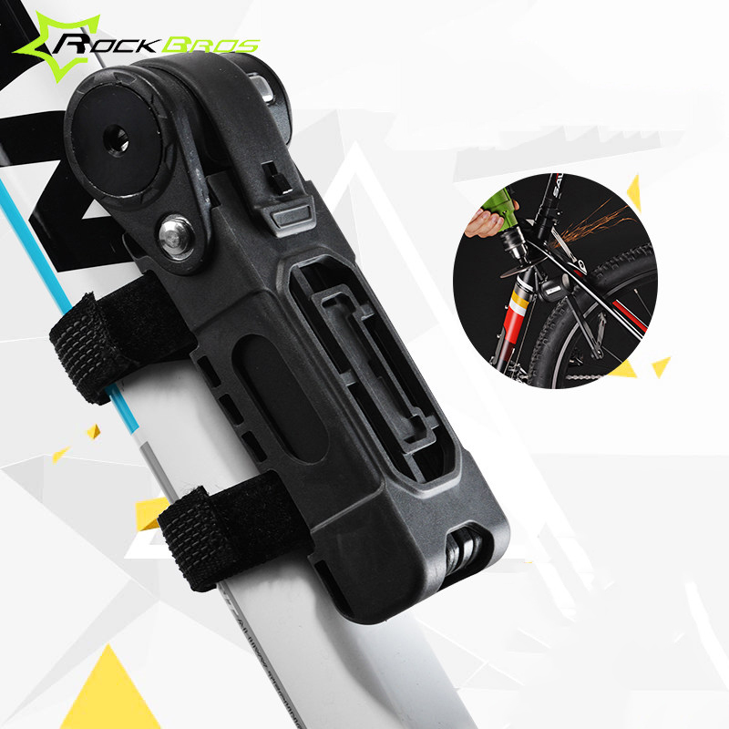 2016 New Rockbros Bicycle Lock Alloy Steel Folding Lock Bike Part Bike Accessories Safety Cycling Anti-theft Candado Bicicleta(China (Mainland))