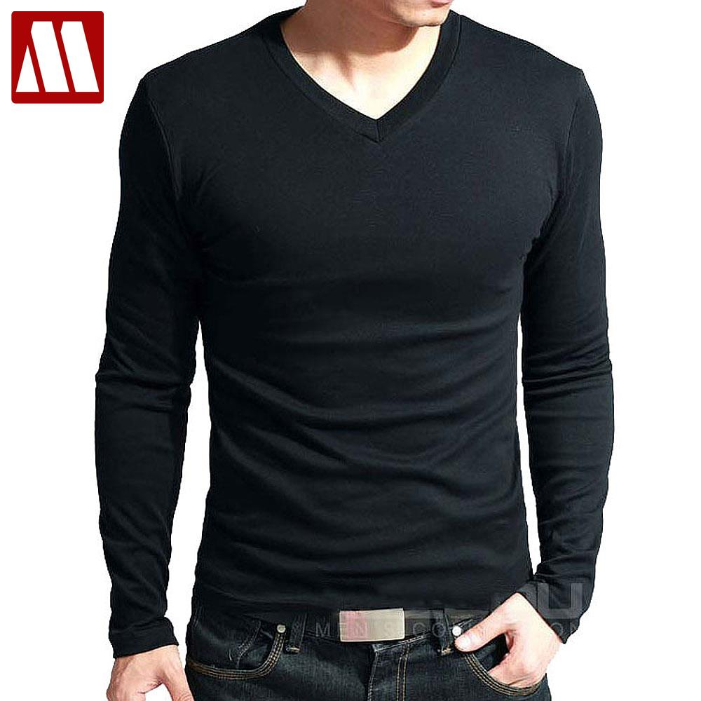 Hot sale new spring high elastic cotton t shirts men 39 s for Full sleeves t shirts for men