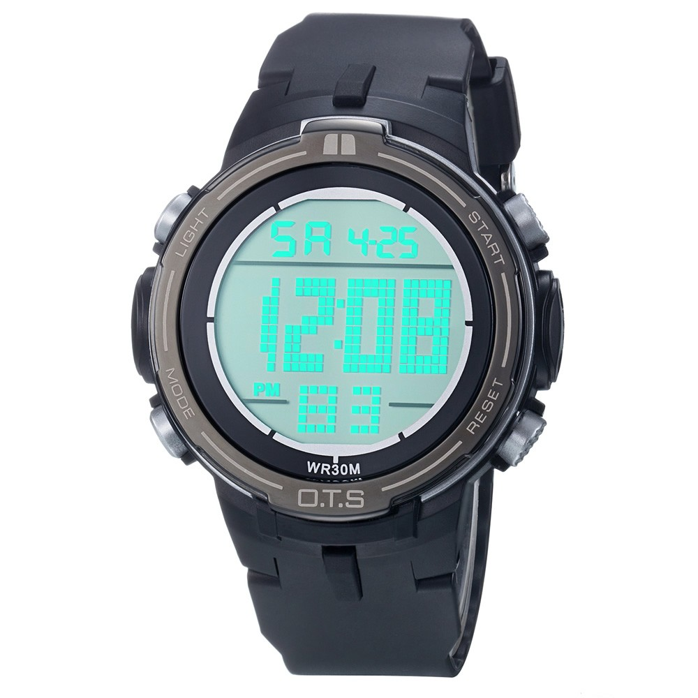 2017 New OTS Luxury Brand Mens Sports Watches Digital LED Military Watch Men Fashion Casual Electronics Wristwatches Hot Clock