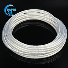 95 meters 311.67feet 4.0mm2 49strands*0.32 Teflon high purity OCC Copper silver wire for audio DIY Amplifier AWG11