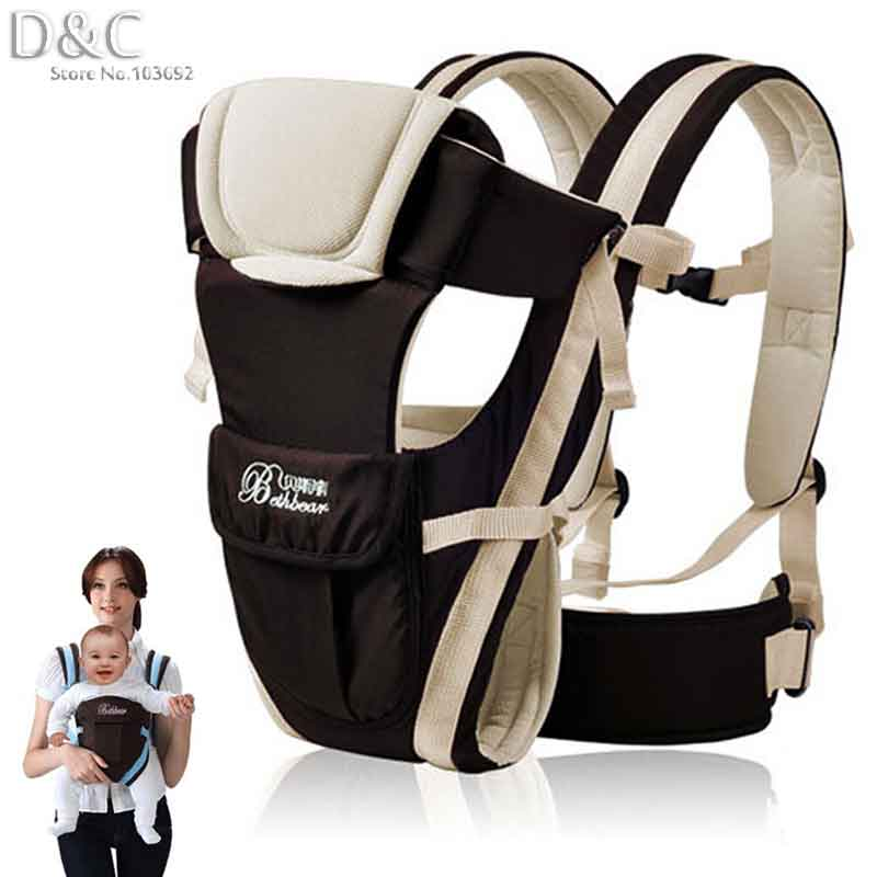 2-30 Months Breathable Multifunctional Front Facing Baby Carrier Infant Comfortable Sling Backpack Pouch Wrap Baby Kangaroo(China (Mainland))