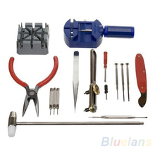 16pc/set Watch Repair Tool Kit Band Pin Strap Link Remover Back Opener Tools watch 08S5(China (Mainland))