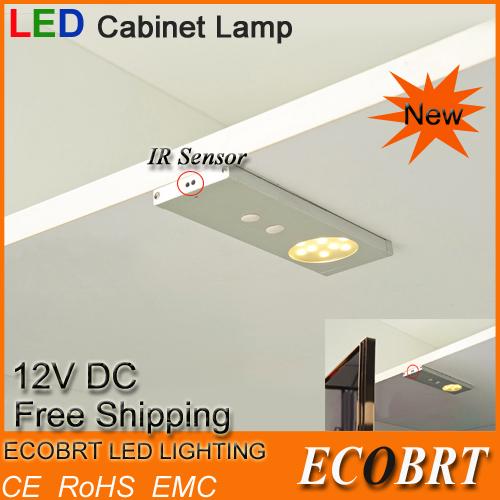 Ecobrt*2015 12v 2w Sensor light Lights for Led Under Cabinet / Furniture Lighting(China (Mainland))