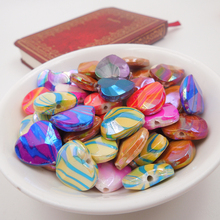 Buy Acrylic Spacer Heart AB color Beads Mixed Dyed 17.0*17.0mm Dia, Hole: Approx 2mm, 20PCs 2016 New Style kids for $1.47 in AliExpress store