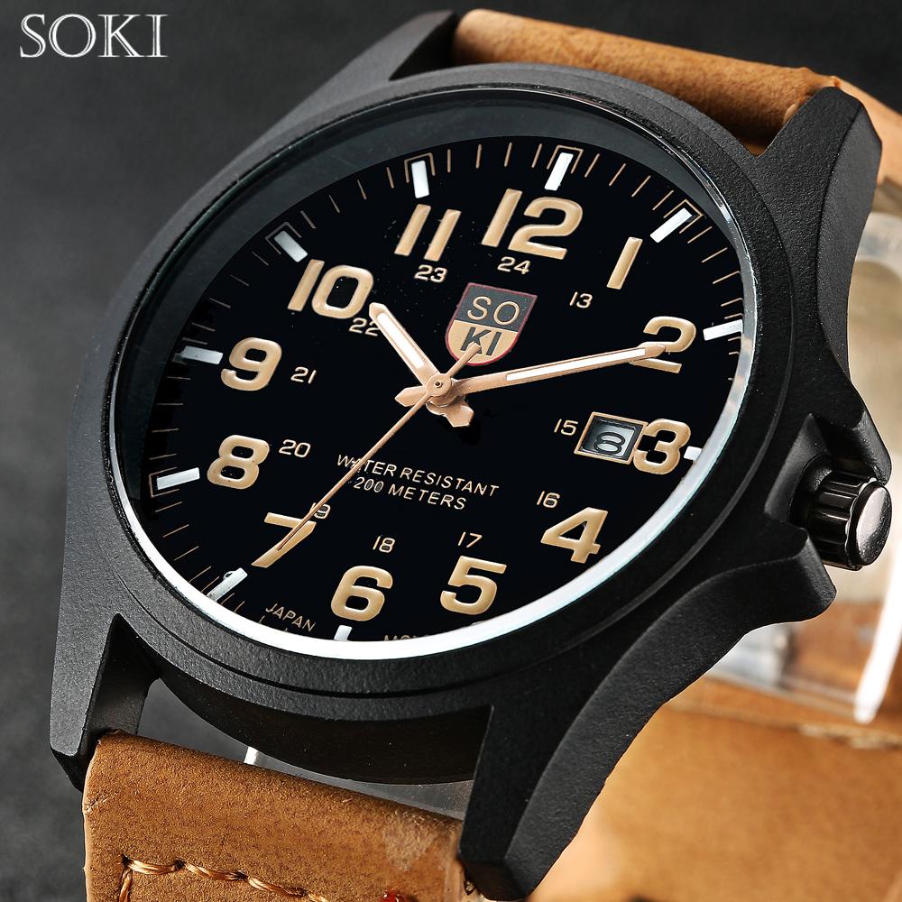 SOKI Brand Hours Digital Watch relojes para hombre Men's Clock Quartz Relogio Masculino Military Sport Men's Casual Wristwatches(China (Mainland))