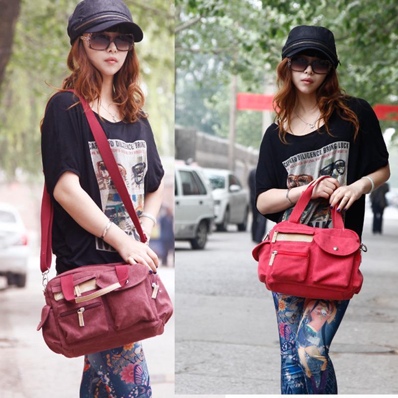 2015 New Fashion Women Messenger Bags Canvas Cross Body Shoulder Bags Ladies Designer Handbags High Quality Hand Bags Tote(China (Mainland))