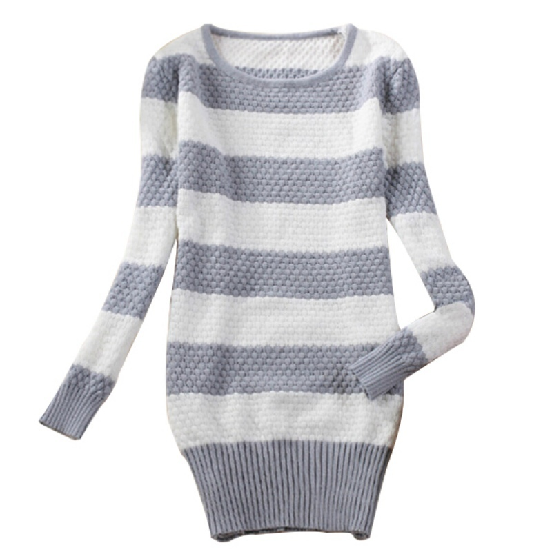 Women Loose Long Sleeve Knitted Sweater Coat Jumper Outwear Tops Jackets Pullover Free Shipping