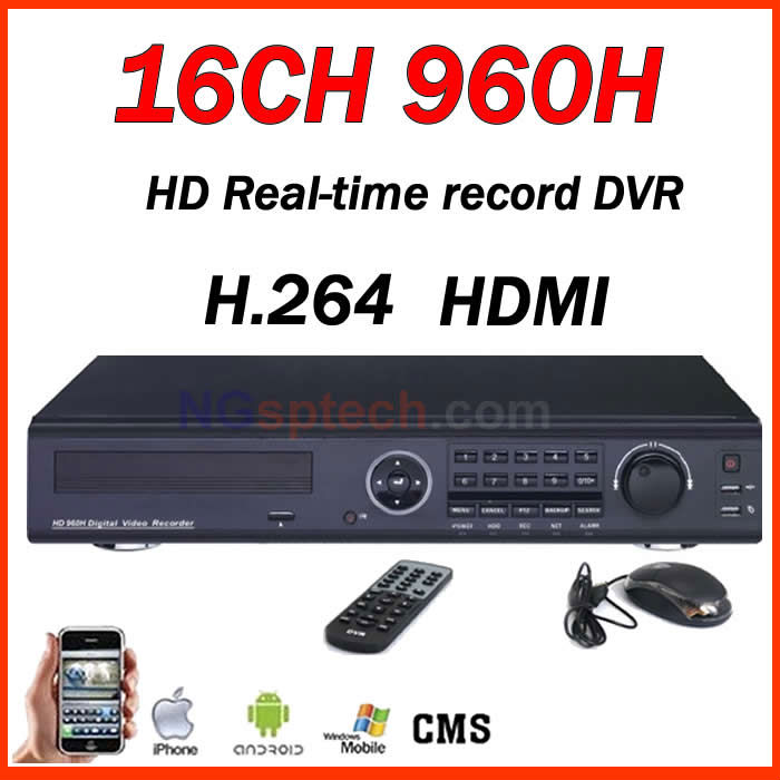 16CH 960H HDMI Port Stand-alone DVR, Embedded Linux operation system, Support 5 mobile system net view(China (Mainland))