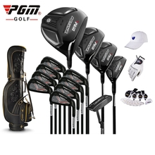 brand PGM collections. 13 pics Luxury MENS golf clubs complete set carbon shaft with bag Titanium Alloy for Rod of Driver(China (Mainland))