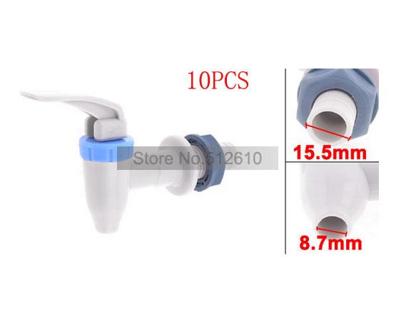 Blue Hand Push Cooler Drink 7.3mm Exit Tap Faucet Water Dispenser for Midea 10PCS/lot Wholesale Discount(China (Mainland))