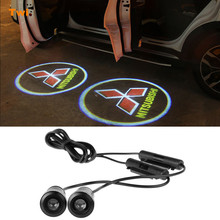 Buy 2X Car Door Logo Projector Light Mitsubishi Asx Lancer 10 9 Outlander Pajero Sport Colt Carisma L200 Galant Grandis Eclipse for $8.88 in AliExpress store