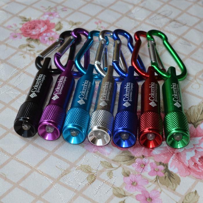 BY DHL 20 2015 Hot Selling Aluminum LED Keychains Novelty Mini Torch Flashlight Keyrings Customized Logo - Keychain store