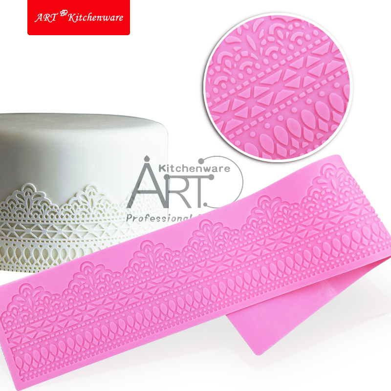 Roman Lace Silicone Lace Mat,Large Silicone Texture Cake Lace Mat,Wedding Fondant Lace Mold,Fondant Cake Decorating Mat LFM-11(China (Mainland))