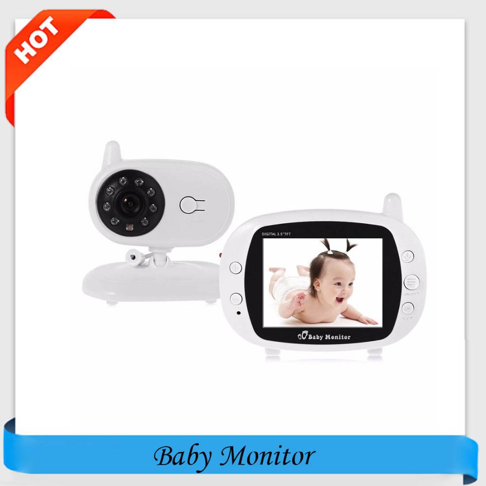 Baby Monitor 3.5 Inch Color LCD Monitor Video Security IP Camera 8pcs IR Lens 2 Way Talk Wireless Digital Baby Monitor(China (Mainland))