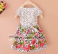 Бабочка печатных Подол девушки платье мило точка платье принцессы sv002025