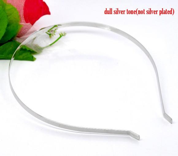10 Silver Tone Headbands Hair Band 14.5x12.5mm 5mm wide (B12459), yiwu(China (Mainland))