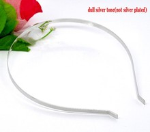 10 Silver Tone Headbands Hair Band 14.5x12.5mm 5mm wide (B12459), yiwu(China (Mainland))