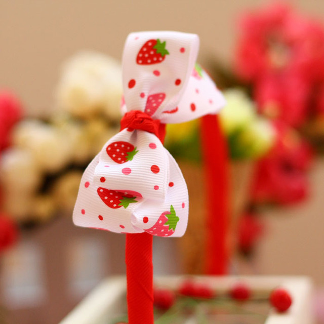 Cute baby headwear girl hair accessories Kid hairbands girls headbands children Red strawberry hair band 00054