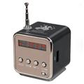 TD V26 Mini Speaker Portable Digital LCD Sound Micro SD TF FM Radio Music Stereo Loudspeaker