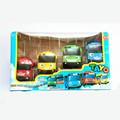 4pcs set Korean Cute Cartoons Tayo the little bus mini plastic oyuncak araba car model music