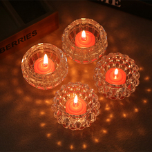 Crystal glass candlestick  dinner Wedding  Cup Nightlight bar small candle lamp(China (Mainland))