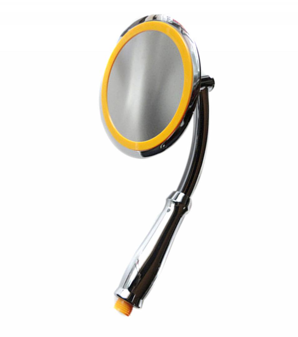 Mayitr Rainfall Shower Head High Pressure Bathroom Shower Sprayer Round Handheld Bathroom Spray Nozzle 360 Degree Adjustable