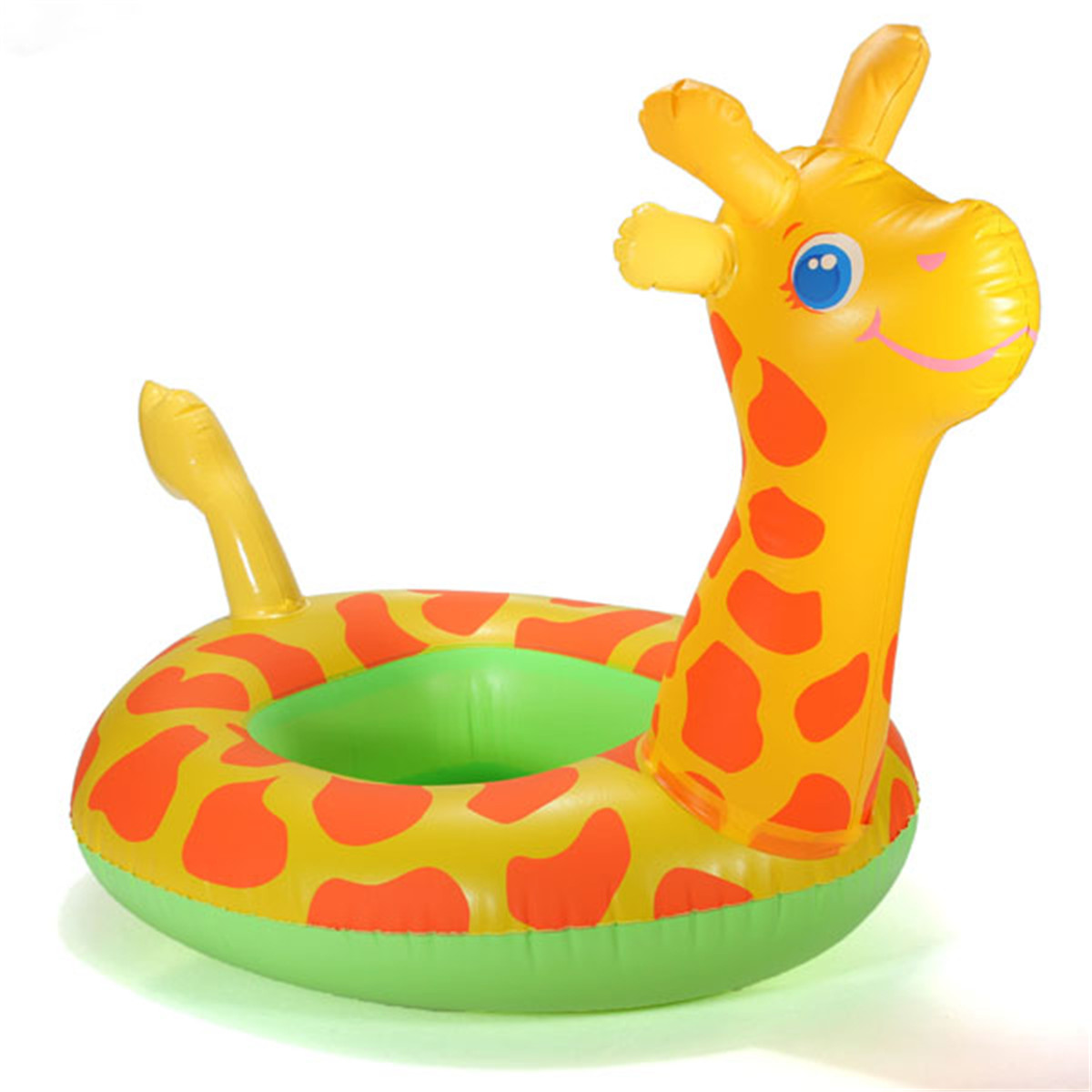 High quality Arrival Portable Giraffe Shape Baby Child Inflatable Water Swimming Pool Raft Chair Seat Float Ring For Kids Flexib(China (Mainland))