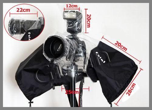 100% GUARANTEE 2 pcs Digital Camera rain cover protector rainwear rainproof for dslr Canon Nikon Sony