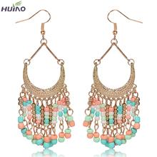 Brinco Direct Selling Rushed Women Trendy Pearl Zinc Alloy Heart Earing Earrings For Women 2016 Newest Design Long Drop Earrings(China (Mainland))