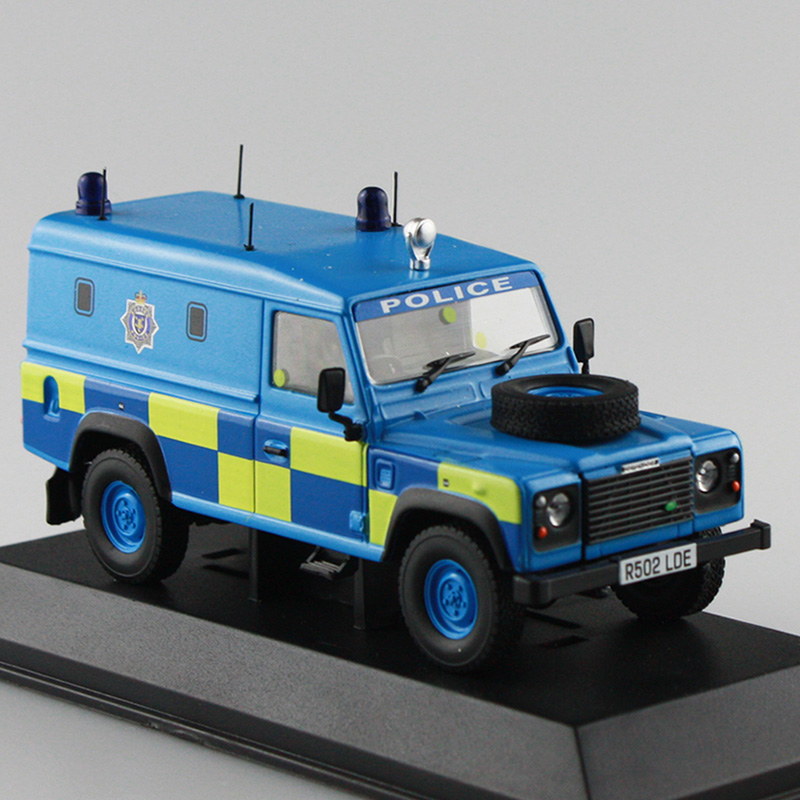 Original Box 1:43 Scale Diecast Cars Vintage Defender Police's Car Model Autos A Escala Blue DEFENDER(China (Mainland))