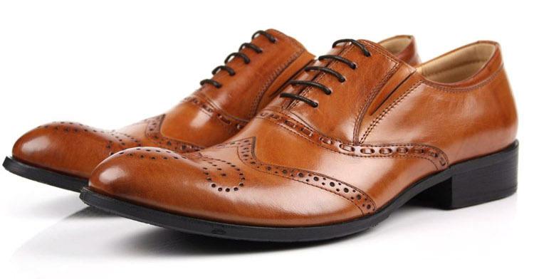 2014 KUTA breathable Genuine Leather shoes Lace-up Britsh Style Pointed Toe fashion Designer Plus Sizes 44 - Kuta Co., Ltd. store