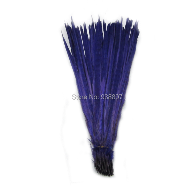 3Quality Dyed Purple Pheasant Tail feathers 20-22''/50-55cm OT1-7 - TiTi Feather Market store