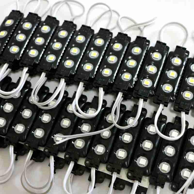500pcs/lot 5050 RGB 3leds black shell injection led module ,12V,0.75w, RGB led module 2 years warranty,led signs(China (Mainland))