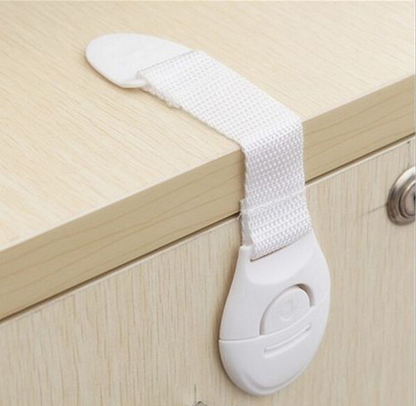 Cabinet drawer cupboard refrigerator toilet door closet plastic lock baby care child safety product/ baby safety lock(China (Mainland))