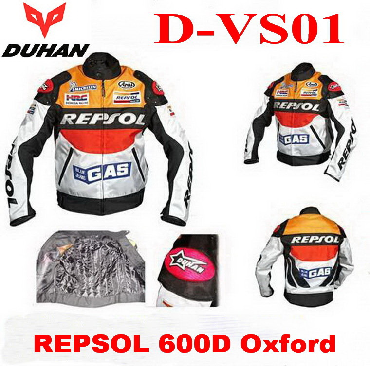 DUHAN racing suits Motorcycle riding Jacket clothes Motorbike clothing REPSOL 600D Oxford tensile force clothing D-VS01  2 color