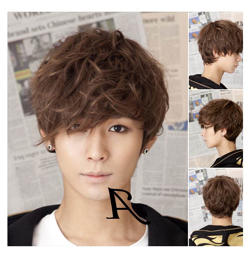 Korean Mens Wigs Wig Ponytail