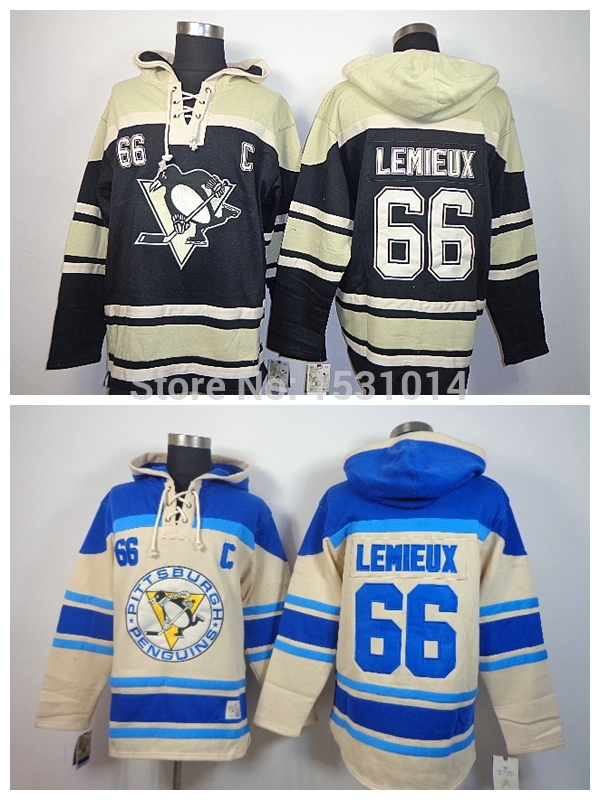 New Cheap Pittsburgh Penguins Old Time Hockey Hoodie #66 Mario Lemieux Hoodie Heavyweight Authentic Mario Lemieux Stitched Hoodi