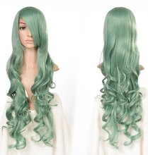 Cosplay Aime Women Ladies Green Wig Fashion Long Curly Wavy Full Synthetic Hair Wigs Halloween Christmas Pelucas Peruca(China (Mainland))