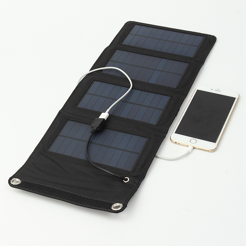 7W USB Portable Solar Battery Charger Panels Camping Travel Folding Mono Solar Panel For iPad Cellphone MP3 Tablet Charging Kits(China (Mainland))