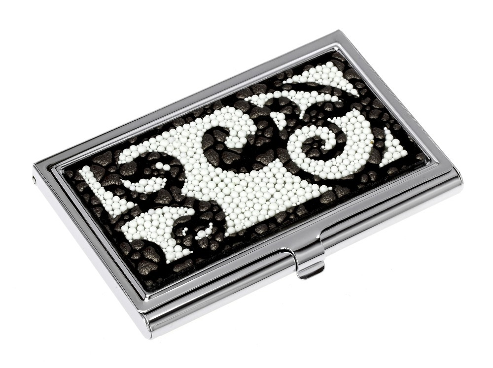 New Arrival Higher Quality Business Cards Holder for Men & Women PU&Bead Name CardHolder(China (Mainland))